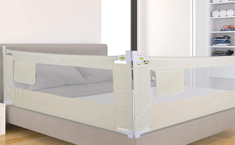 Barandilla de La Cama Guardia de Seguridad para Niños, Portátil Barrera de cama para bebé Protección contra caídas, Barandilla ...