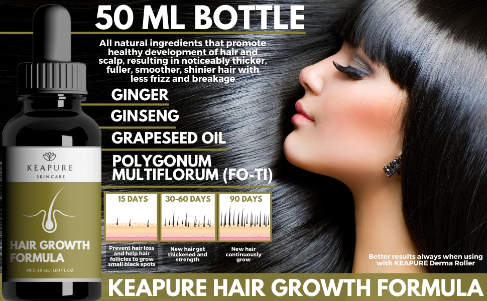 Hair growth Formula Natural Serum regrow