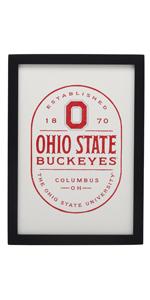 ohio state framed wood sign