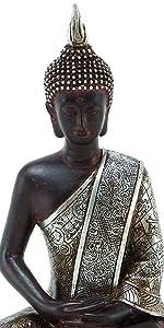 Buddha Dhyana Mudra Meditating Sitting Blessing Statue Indoor Outdoor Garden Patio