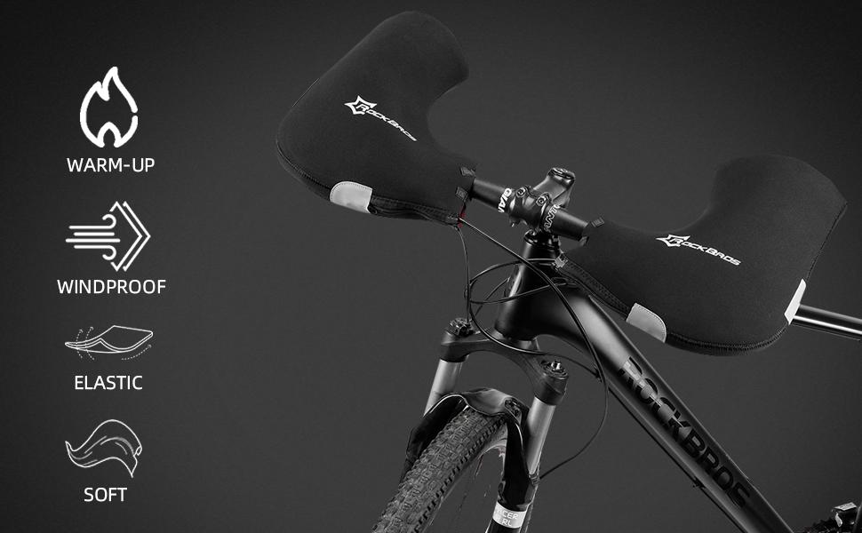 New Winter Bike Handlebar Mittens Warm Windproof Cycling Bar Mitts Glove Durable