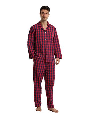 red checked pyjamas set