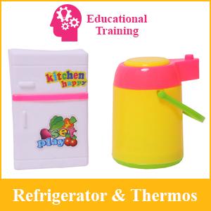 Educational Training Pretend Play Refrigerator Jug Thermos