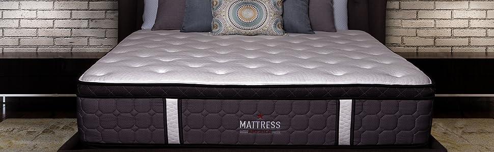 Mattress America Frost 13 Inch Hybrid Pocket Coil Pillow Top Mattress Gel Infused Memory Foam Twin