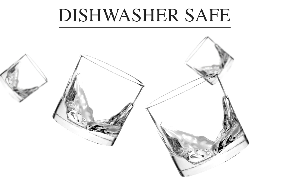 Dishwasher safe whiskey glasses