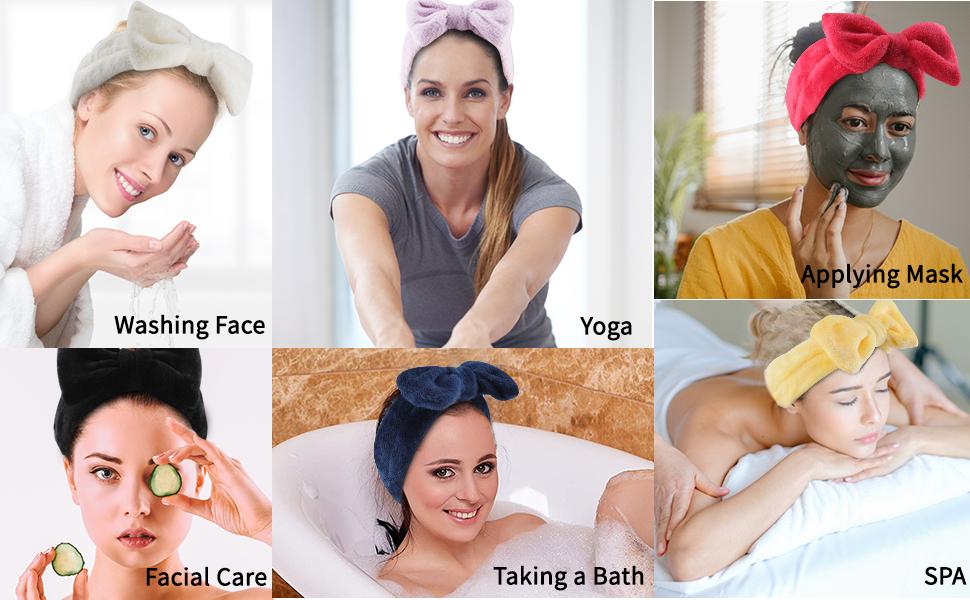 multipurpose headbands coral fleece headband make your facial clean and makeup more convenient