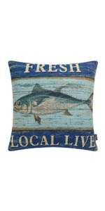 Trendin Fish Pillow Cover, 18x18 inch