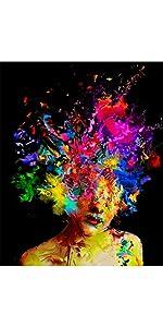 Pintar por n/úmeros Adultos Lienzos para Pintar por n/úmeros con Pinceles y Colores Brillantes Cuadros para Pintar con Dibujos sobre Lienzo Pantera Rosa y Charlie Chaplin Sin Marco