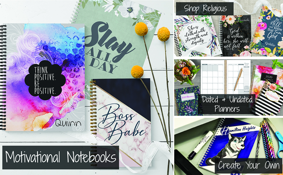 motivational, religious, create your own, dated and undated planners