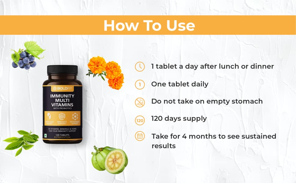 How to use Boldfit multivitamins tablet