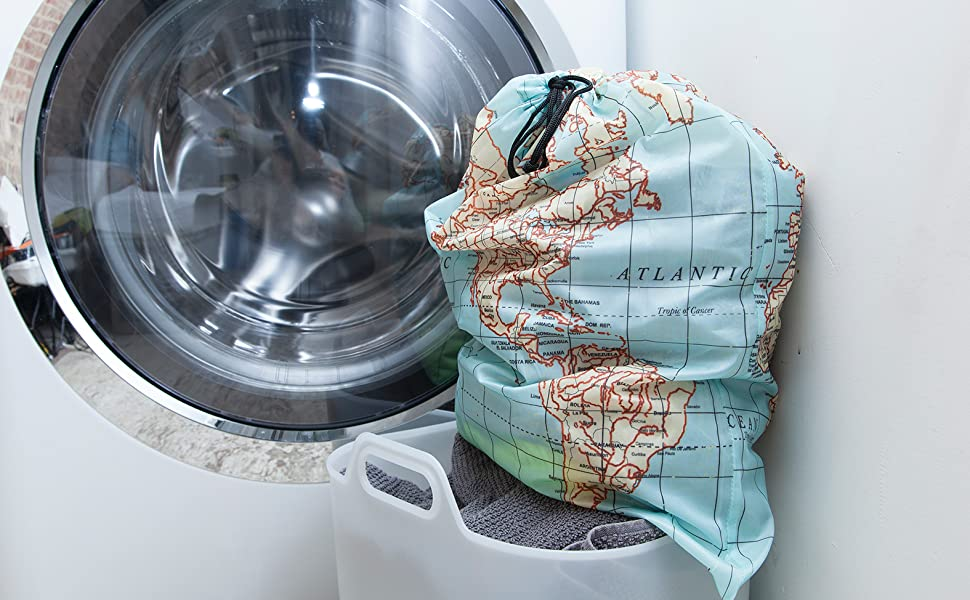 Maps Travel Laundry Bag - LB06MP