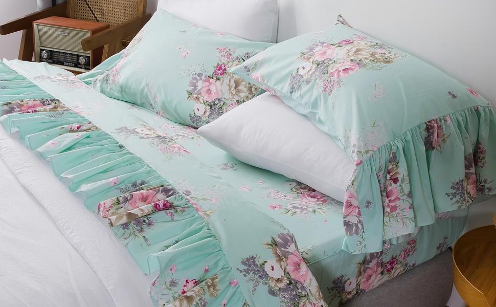 ruffle bed sheet set