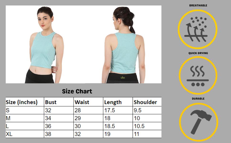 puma crop top light blue sleeveless crop tank top women girls ladies gym vest stylish sports tshirt