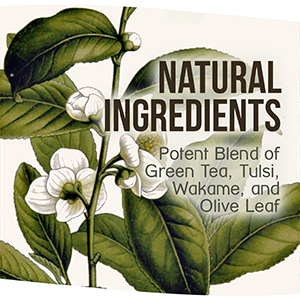 Natural ingredients wellness products green tea coral reef
