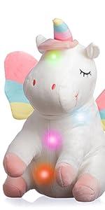 unicorn stuffed animal large big unicorn pillow lantern for kids room baby lantern toy nursery decor