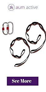 aerial yoga set up equipment carabiner daisy chain extension strap