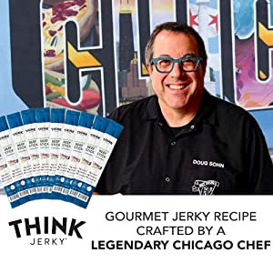 Star chef Doug Sohn in front of his famous restaurant crafting Classic Beef Sticks