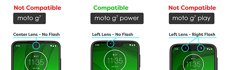 Encased Moto G7 Power Case (Thin Armor) Slim Fit Flexible Grip Phone Cover for Motorola G7 Power - Black