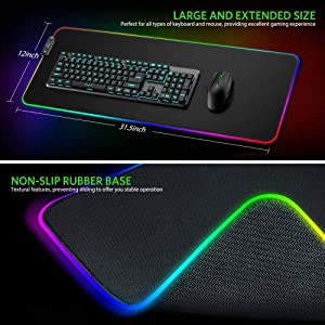 SHANDIAN 700x300x3mm Mouse Pad Notebook Laptop Gaming Mouse Pad Computer Mouse Pad Color : Pad 11, Size : Size 800x300x4mm
