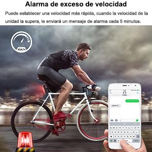 GPS Rastreador de Bicicleta, LED Mini Localizador GPS Anti-Robo ...