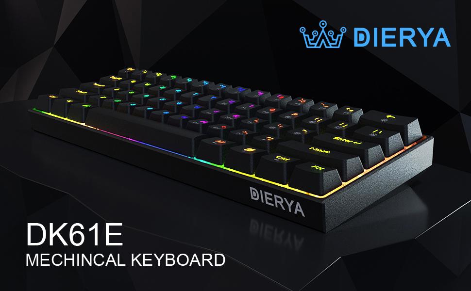 Dierya Dk61e 60 Mechanische Gaming Tastatur Computer Zubehör