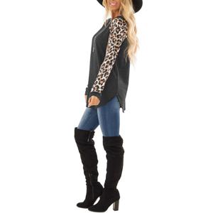 leopard print tops for women