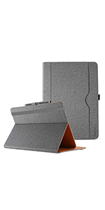 Stand Folio Case Protective Cover - Grey
