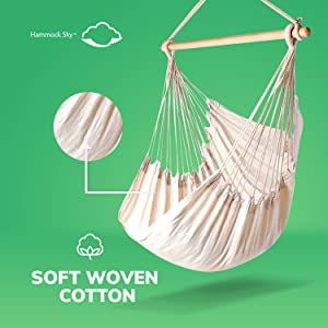 soft woven cotton large hammock chair hammock sky big white natural neutral