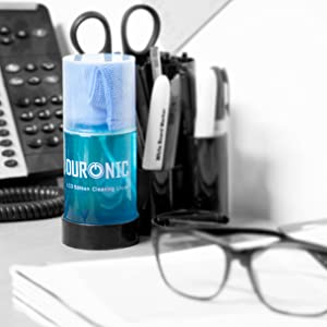 small, compact, easy, store, tidy, clean, blue, stationery, desk, phone, glasses, work, office
