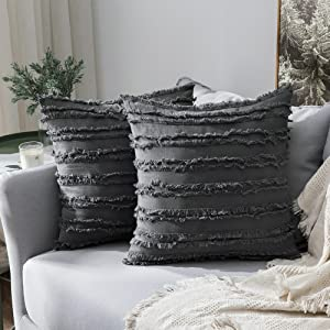 home decor pillow covers cushion warm 18x18 inch bohodark gray grey