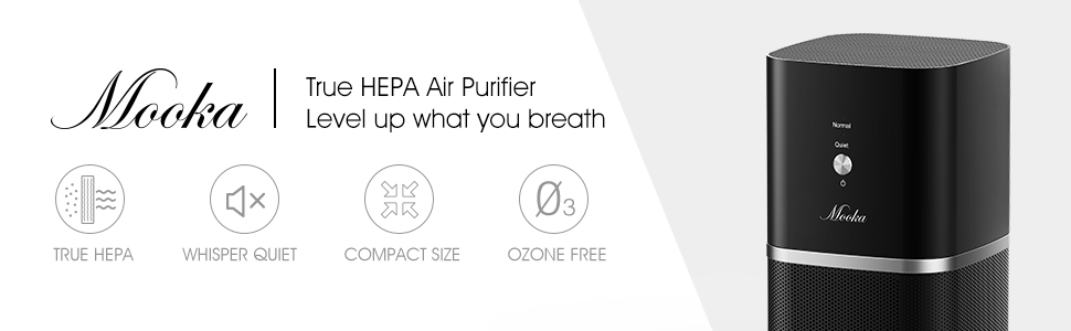 Amazon Com Mooka True Hepa Air Purifiers Desktop Air Purifier W 3 Stage Filtration Air Purifiers For Allergies And Pets Mold Tabletop Smoke Odor Eliminator For Home Small Room Dorm Bedroom Office Baby Home