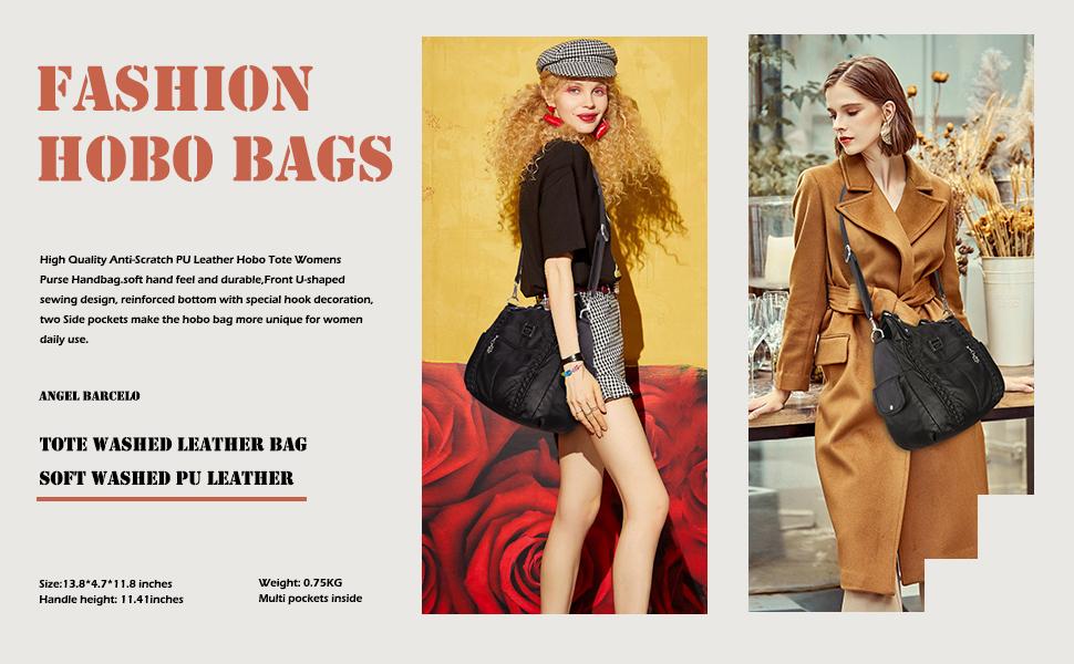 Angel Barcelo Women Handbag Purse Crossbody Hobo Bag