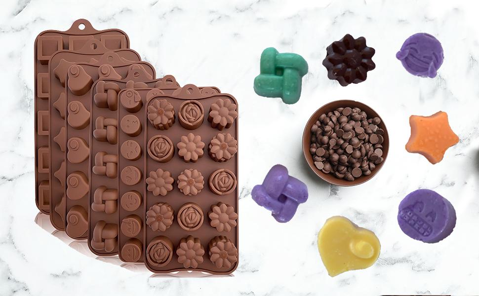 Bluesnow DIY Cute Christmas Chocolate Cake Cupcake Cookie Mold Silicone Handmade Soap Mold 15 Cavity