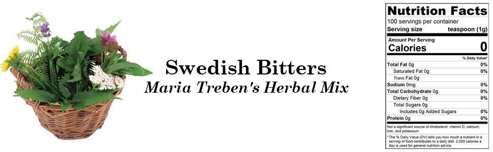 Swedish Bitters Maria Treben's Herbal Mix 100g 3.55oz