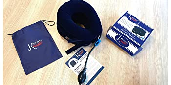 Pinched nerve neck stretcher cervical collar pillow gift box instructions travel protection bag set