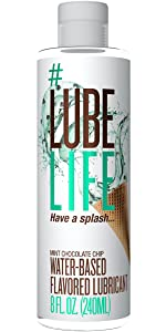 flavored lube, personal lubricant, edible lube, sex lube, anal sex, sensitive use, water based lube