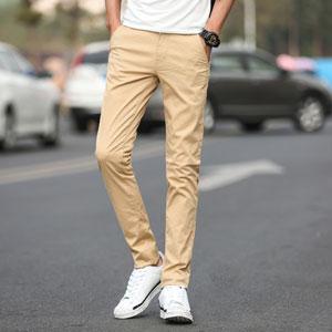 slim fit khaki pants for men