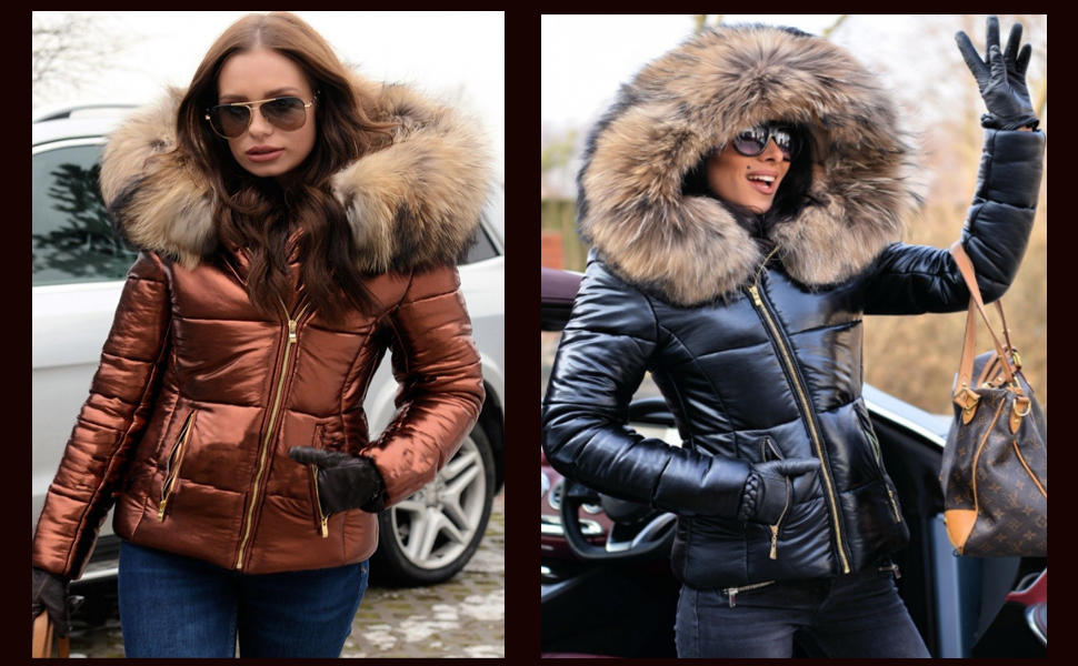 Roiii Faux Fur Winter Coat