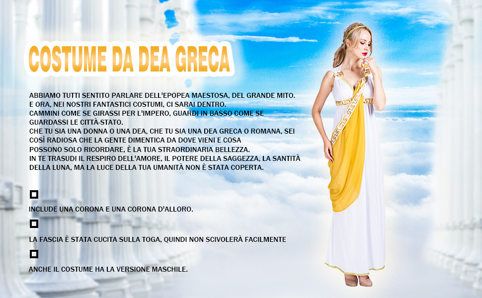 COSTUME DA DEA GRECA
