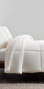 Comforter set blissful sherpa fleece