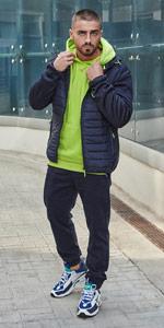 Bolf - Sudadera con capucha para hombre