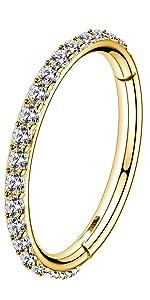 Gold helix earring