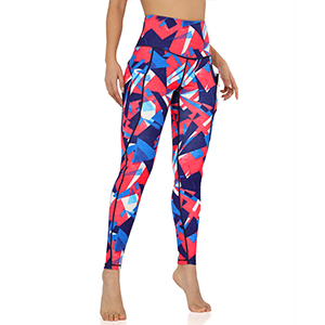 ODODOS Out Pockets Pattern Yoga Pants