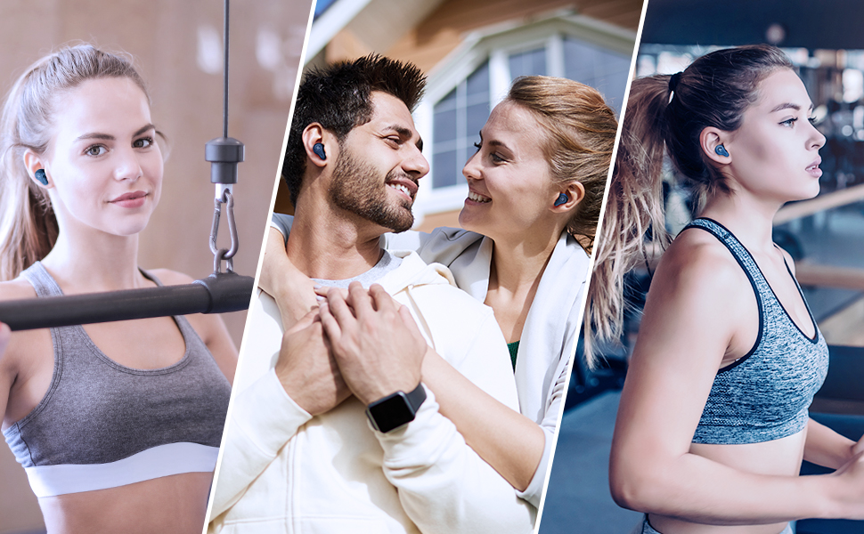 mifo 07 plus true wireless earbuds for sport bluetooth earphones noise cancelling earphones with mic