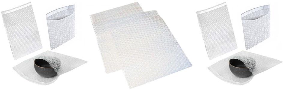 100 Plain Bubble Wrap Bags Pouches 100mm x 130mm 4 x 5 BP01