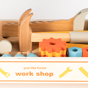 ROBUD Soild Wood Tool Stand Set for Toddlers and Kids,