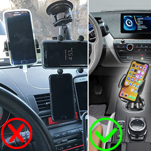 cell phone cup holder for car