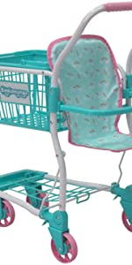 Doll shopping cart