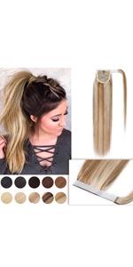 Wrap Around Human Hair Ponytail