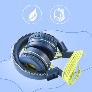 M2 kids headphones  POWMEE M1 Kids Headphones Wired Headphone for Kids,Foldable Adjustable Stereo Tangle-Free,3.5MM Jack Wire Cord On-Ear Headphone for Children (Blue) e2a72ee8 57b0 44e1 b21e c4c7b54040e4
